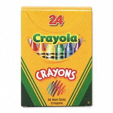 Classic Color Pack Crayons (Tuck Box, 24/Box) (Set of 3)