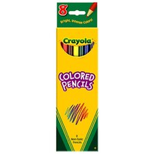 Colored Pencils-8 Ct Assorted (Set of 4)