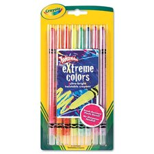 Twistable Crayons (8 Neon Colors/Set) (Set of 2)