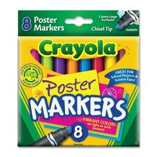 Washable Poster Markers (8 Pack) (Set of 2)