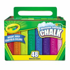 Washable Sidewalk Chalk (48 Pack)
