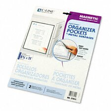 Magnetic Cubicle Keepers Display Holders (2/Pack)