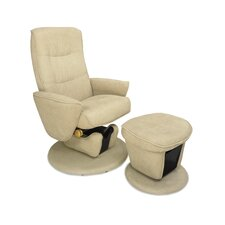 Relax-R Laval Fabric Swivel Glider and Ottoman