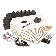 Charles Leonard Class Pack Dry Erase Lap Board Whiteboard, 1' H x 1' W