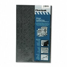 Chartpak Press-On Vinyl Letters and Numbers (Set of 3)
