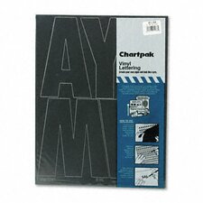 Chartpak Press-On Vinyl Uppercase Letters and Numbers