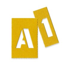 Painting Stencil Letters and Numbers