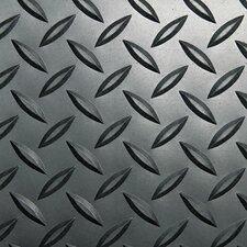 "Industrial Deck Plate Anti-Fatigue Mat, Vinyl, 36"" x 144"""