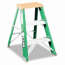 Folding 3-Step Fiberglass Locking Step Stool