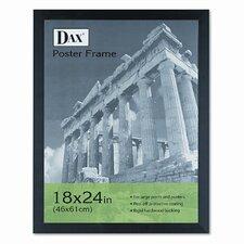 Black Plastic Poster Frame with Plexiglas Window, Wide Profile, 18 x 24