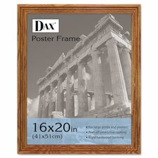 Plastic Poster Frame, Traditional with clear plastic window, 16 x 20, Medium Oak