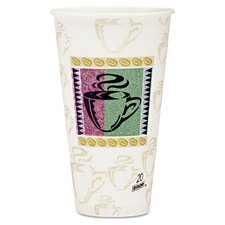 PerfecTouch® Coffee Haze 20 oz. Insulated Paper Hot Cups WiseSize (Set of 20)