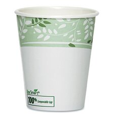 PLA Hot Cups, Paper with PLA Lining, Viridian ( Pack of 50)