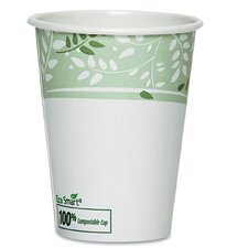 EcoSmart Hot Cups, Paper with PLA Lining, Viridian (Pack of 50)