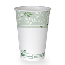 EcoSmart Hot Cups, PLA Lined Paper, Viridian, 50 Pack