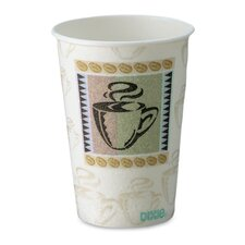 PerfecTouch® Coffee Haze 10 oz. Insulated Paper Cups WiseSize