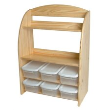 Kid's Bookcase and Toy Organizer 6 Compartment Cubby