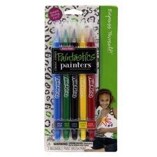 Classic Color Paint Brush Pen Set (Set of 5)