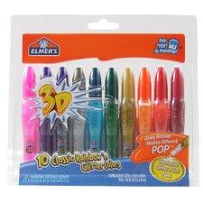10 Count Washable 3D Glitter Paint Pen