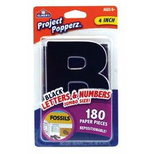 Project Count Popperz Jumbo Letters and Numbers Black (Set of 2)