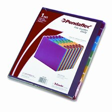 Top Tab File Guides, Daily, 1/5 Tab, Polypropylene, Letter (Set of 30)