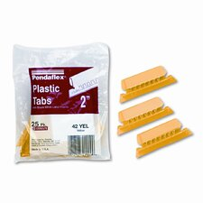Hanging File Folder Tabs, 1/5 Tab, Two Inch, 25/Pack (Set of 2)