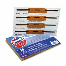 "E-Z Place Self-Adhesive Paper File Fasteners, Two"" Capacity, 48/Pack"