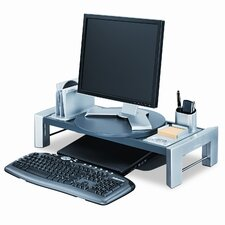 Flat Panel Workstation Shelf, Gray Laminate Top