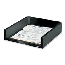 """Letter Tray, Holds Letter/A4 Paper, 11-1/8""""x13""""x2-1/2"""", Black"""