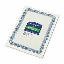 Parchment Paper Certificate