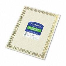 Foil Stamped Certificate (Set of 2)