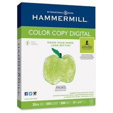 Color Copy, 28 lbs, Letter,100 GE/114 ISO, 5 Reams of 500 Sheets  Paper