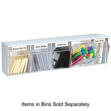 Interlocking 5-Compartment Tip-Out Bin