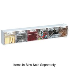 Interlocking 6-Compartment Tip-Out Bin