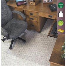 Checkered Low Pile Carpet Beveled Edge Chair Mat