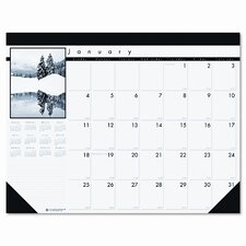 Black-and-White Photo Monthly Desk Pad Calendar