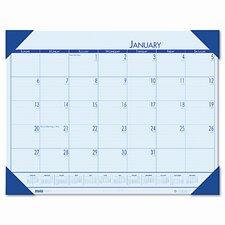 EcoTones Ocean Blue Monthly Desk Pad Calendar