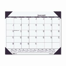 EcoTones Moonlight Cream Monthly Desk Pad Calendar