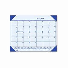 EcoTones Sunset Orchid Monthly Desk Pad Calendar