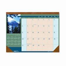 Landscapes Monthly Desk Pad Calendar