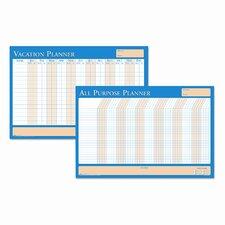 House of Doolittle All-Purpose/Vacation Plan-A-Board Calendar Whiteboard, 2' H x 3' W