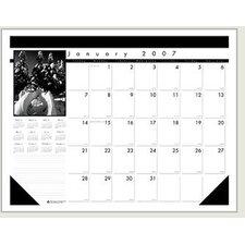 Black On White Desk Pad Calendar