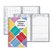 """Box Design Weekly Assignment Planner, 13 Mos, 5""""x8"""", Boxes/Multi, 2013"""