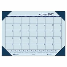 EcoTones Academic Desk Pad Calendar in Blue