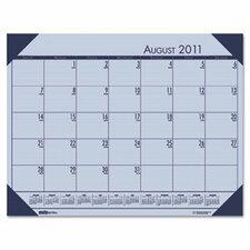 EcoTones Academic Desk Pad Calendar in Orchid