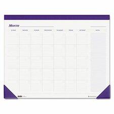 Nondated Desk Pad Calendar