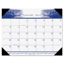 Illustrated Desk Pad Calendar
