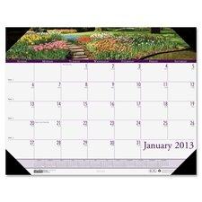 Gardens Calendar Desk Pad