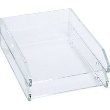 Double Letter Tray, Two-Tier, Acrylic, Clear