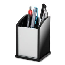 Pen Cup, Aluminum, 12/CT, Black/Acrylic